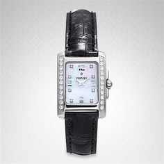 Concord Spotivo Women Concord Watches, Pearl Diamond, Square Watch, Pearls, Accessories, Black, Women, Black People, Beads