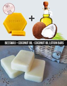 Make a mega-moisture rich soap from just beeswax and coconut oil. 27 Insanely Easy Two-Ingredient DIYs Diy Spa, Diy Beauté, Diy Lotion, Lotion Bars, Coconut Oil Lotion, Hygiene, Homemade Beauty Products, Soap Recipes, Beauty Recipe
