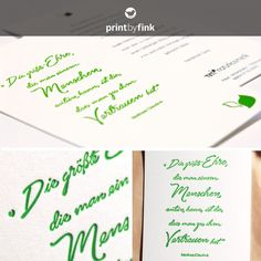 Individual two sided letterpress card for german natural cosmetic company. Found on www.printbyfink.de