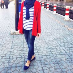 Red and blue | MyhijabStyle