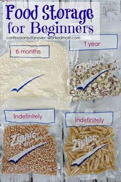 Emergency Preparedness Food Storage List   Reducing Food Waste