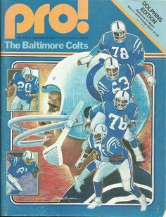 Baltimore Colts November 11, 1979 Miami vs Baltimore | pro! Football game program #Colts #NFL #Vintage
