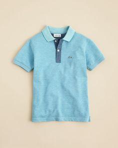 Lacoste Boys' Indigo Dyed Pique Polo Shirt - Sizes 2-16