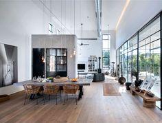 L-Shaped House With Functional Interior By Neuman Hayner Architects, Tel Aviv, Israel. Loft Design, House Design, Deco Design, Design Case, Casa Top, L Shaped House, Interior Modern, Interior Design, Modern Decor