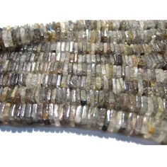 Black Rutilated Quartz Rutilated Quartz Heishi by gemsforjewels, $28.75