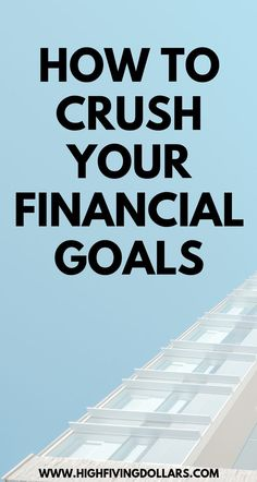 How to Crush Your Financial (and Life) Goals with Ryan Hildebrandt - luxus Make More Money, Ways To Save Money, Money Tips, Managing Your Money, Financial Goals, Budgeting Tips, Money Management, Saving Money, Saving Tips
