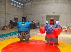 Batman & superman sumo Wrestling  #sumowrestling #inflatablewresting