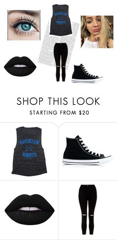"""""""Random #2"""" by avathegeek ❤ liked on Polyvore featuring Converse, Lime Crime, New Look and harrypotter"""