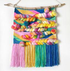 Rainbow weaving - woven wall art by pinch me beautiful (www.pinchmebeautiful.bigcartel.com) #pmbweaves