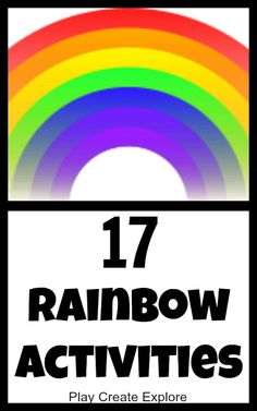 Rainbow Activities - tons of awesome ideas!