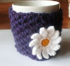 Knitted Mug Cosy by LittleDaisyKnits on Etsy