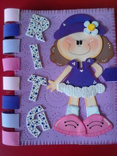 visitanos en arteideaparati.blogspot.com Foam Sheet Crafts, Foam Crafts, Diy And Crafts, Hand Crafts, Foam Sheets, Baby Art, Felt Dolls, Book Activities, Paper Piecing