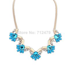Choker Flower Crystal Statement Necklace