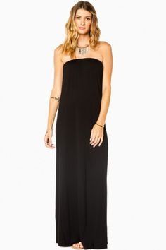 At Ease Maxi Dress in Black