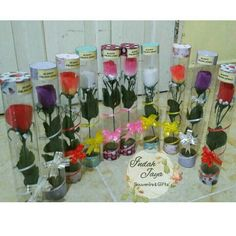 Bunga + tabung mika cocok buat hadiah wisuda  Bisa juda souvenir pernikahan.. Sistem PO Yg berminat contact kita Line 07airan07 Wa 081364904075  Thank u