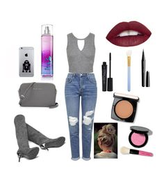 """Gray"" by jocelyn77 on Polyvore featuring Topshop, Miss Selfridge, Smashbox, Marc Jacobs, MAC Cosmetics, Bobbi Brown Cosmetics, Lancôme, women's clothing, women's fashion and women"