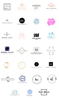 FEMININE LOGO TEMPLATES Over 25 Logo Designs Editable fonts, artwork, and colors- customize the design as you like! AI FILES + EPS FILES + PSD FILES Only free fonts were used, the download links are included in a PDF