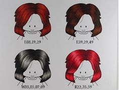 Copic hair coloring - additional colors