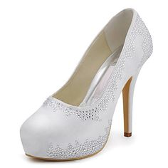 Satin Wedding Women's Stiletto Heel Pumps Heels Shoes(More Colors)