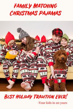 52db5baf04 Make sure to create fun family traditions this year! Family matching  pajamas can be super