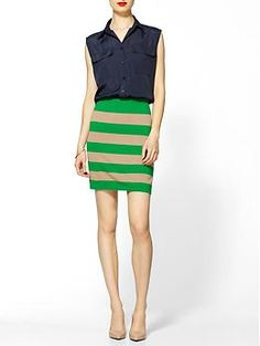 THML Clothing Striped Shirt Dress   Piperlime