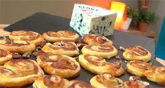 Recette de Palmiers au Roquefort et aux noix - 750 Grammes - YouTube