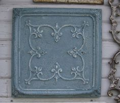 FRAMED Antique Tin Ceiling Tile. 2x2.  Circa by DriveInService, $59.00
