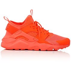 Nike Men's Air Huarache Run Ultra Sneakers ($130) ❤ liked on Polyvore featuring men's fashion, men's shoes, men's sneakers, red, mens red sneakers, mens low tops, mens mesh sneakers, mens lightweight running shoes and mens shoes