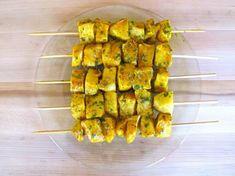 Marinated Fish Skewers with metabolism-firing turmeric and cayenne -- Use Phase-appropriate fish, and omit the oil for Phase 1 and Phase 2. These are easiest on a nonstick grill pan, or under the broiler.