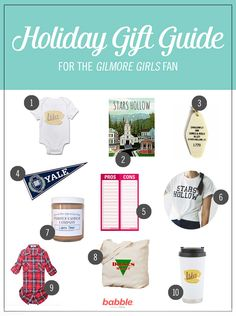 We can all agree that Gilmore Girls has our hearts. And with Gilmore Girls: A Year in the Life out on Netflix, there are even more opportunities to celebrate the lovely ladies. We've rounded up our favorite themed items to gift the Rory or Lorelai in your life. From the must-haves they're sure to ask for, to the rare finds they didn't even know they needed — there's something here for everyone (including the little one). Explore 10 different Gilmore Girls gifts, from onesies to keychains.