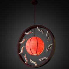 3D Model Chinese light yd 3 c4d, obj, 3ds, fbx