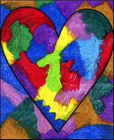 Jim Dine Mural -  an American pop artist, famous for his series of painted hearts. @Kaetlyn Wentzel- Ashcraft
