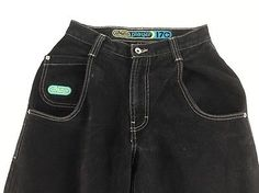 JNCO Jeans Player 170 Size 27 X 30 Black Denim Skater Raver 90s Fashion Pants