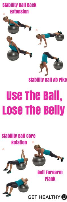 The stability ball might just be one of the best tools around for giving you new strength in your core fitness. The ball provides a dimension of instability making not only the target muscles work harder, but additional smaller muscles and fibers surrounding the core kick in to help keep you stable. Use the ball, lose the belly!