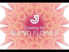(1) Blend Flower Illustrator Tutorial - YouTube