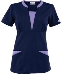 The newest addition to the UA Best Buy Scrubs collection is the Best Buy Contrast V-Neck Scrub Top. Scrubs Outfit, Scrubs Uniform, Spa Uniform, Buy Scrubs, Stylish Scrubs, Medical Scrubs, Nursing Dress, Work Tops, Scrub Tops