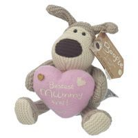"""Small 5"""" Boogle plush with Pink Heart with message: Bestest Mummy Ever! xxx"""