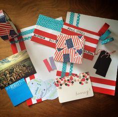 American themed mail made by Snail Mail Ideas founder @amber_snailmail  Find more ideas , inspiration and penpals on www.snailmail-ideas.com or go to the webshop www.snailmailideas.etsy.com
