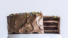 Four-Layer Chocolate Birthday Cake with Milk Chocolate Ganache and Nutella Buttercream Recipe | Bon Appetit