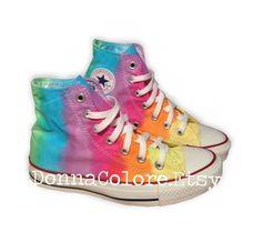 Tie Dye Rainbow Converse I need these rainbow shoes!