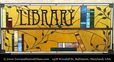 Library Stained Glass Window © T​erraza S​tained Glass​​​​​, Baltimore, Maryland, USA. Award-winning stained glass art available at link ...   HOW TO FIND the ORIGINAL WEB SITE of an image: http://pinterest.com/pin/86975836525507659/  PINTEREST on COPYRIGHT:  http://pinterest.com/pin/86975836526856889/  The Golden Rule: http://pinterest.com/pin/86975836525355452/