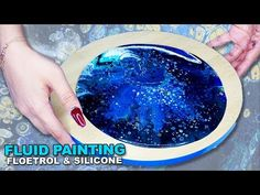 Fluid Acrylic Pouring Tutorial - FLOETROL & SILICONE BLUE - YouTube