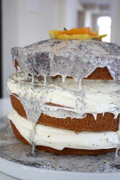 via 3polkadots - citrus poppy seed layered cake - Martha Stewart's recipe