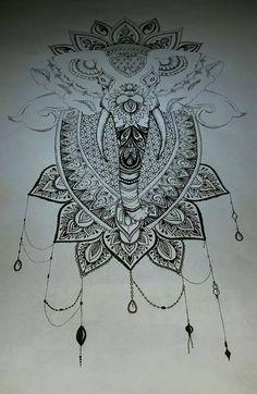 Mandala Elephant Finished by TanjaLouiseArtist