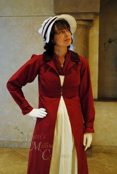 Image result for red regency era dress