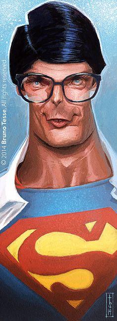 Espectacular caricatura del actor que más famosos hizo a Superman y viceversa en…