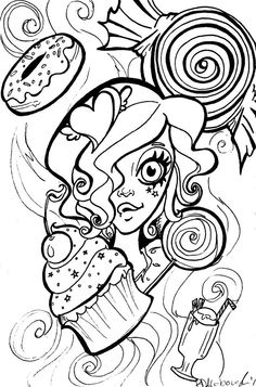 Art with edge coloring pages ~ Art With Edge Sugar Skulls Trial Page | coloring pages ...