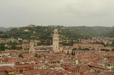 Torre dei Lamberti (take the lift to the top for a view of the city) - Verona, Italy