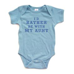 I'd Rather Be With My Aunt  Blue on Blue Short Sleeve by apericots, $10.99