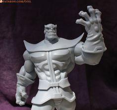 Thanos Statue!, Thomas Sincich on ArtStation at https://www.artstation.com/artwork/thanos-statue
